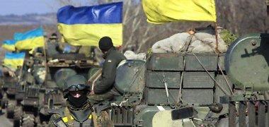 ESBO tvirtina, kad sunkiąją ginkluotę atitraukia ir Rusijos pajėgos, ir Ukraina