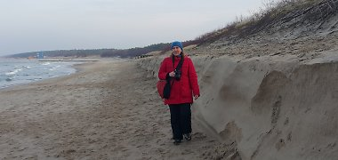 Audringa Baltija pasiglemžė dalį Palangos kopų