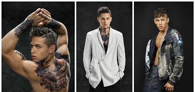 Donatas Montvydas naujoje fotosesijoje parodė treniruotą, tatuiruotėmis margintą kūną