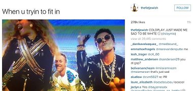 """Internautai juokiasi iš Chriso Martino, kurį per """"Super Bowl"""" užgožė Beyonce ir Bruno Marsas"""