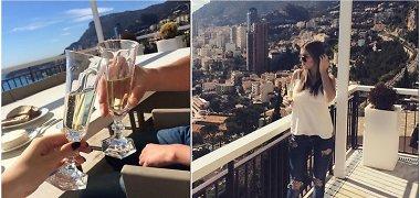 Iš Egipto grįžę Danielius Bunkus ir Justina Stambrauskaitė atostogas pratęsė Monake