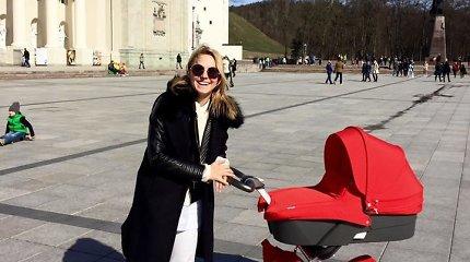 Indrė Morkūnienė parodė pirmąją nuotrauką su dukra Marija Barbora
