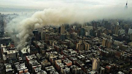 Sprogimas Niujorke sugriovė dalį pastato, yra sužeistų
