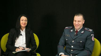 """15min konferencijoje dalyvavęs policijos vadovas L.Pernavas: """"Pareigūnas, kuris galvoja, kaip jam išgyventi, konfliktų neišspręs"""""""