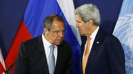 Vašingtonas įspėja Maskvą, kad jo kantrybė dėl Sirijos labai ribota