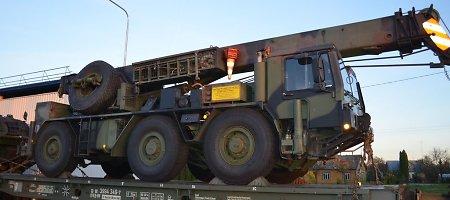 Tarptautinėms pratyboms Lietuvoje atgabenta Vokietijos karinė technika