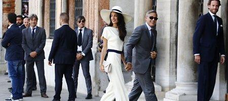 George'as Clooney ir Amal Alamuddin vyksta įregistruoti civilinės santuokos Venecijoje