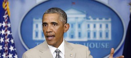 JAV prezidentas Barackas Obama apkaltino Rusiją karine agresija Ukrainoje