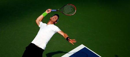 """Novakas Džokovičius, Rogeris Federeris ir Andy Murray – """"US Open"""" ketvirtfinalyje"""