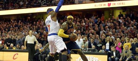 """""""Knicks"""" klubas ir Carmelo Anthony sugadino LeBrono Jameso sugrįžimą į Klivlandą"""