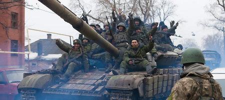 Rusijos palaikomi separatistai buvo įsiveržę į Vuhlehirsko miestą rytinėje Ukrainoje