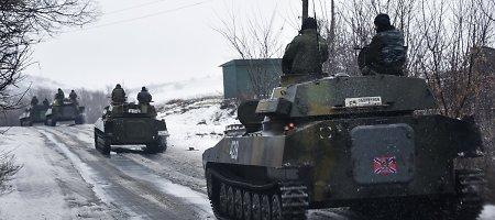 Ukrainos kariuomenė nukovė 60 teroristų ir sunaikino jų tanką