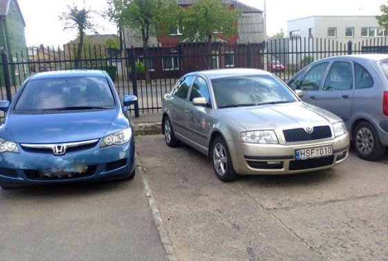 """Juozo Pociaus nuotr./Tarnybinis automobilis """"Škoda"""""""