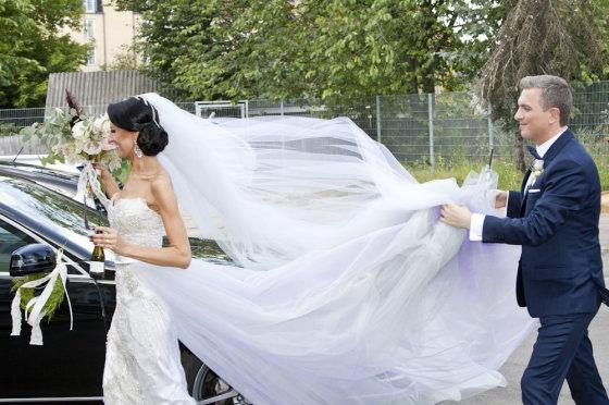 Mariaus Žičiaus/Žmonės.lt nuotr. /Katazinos Nemycko ir Deivydo Zvonkaus vestuvės