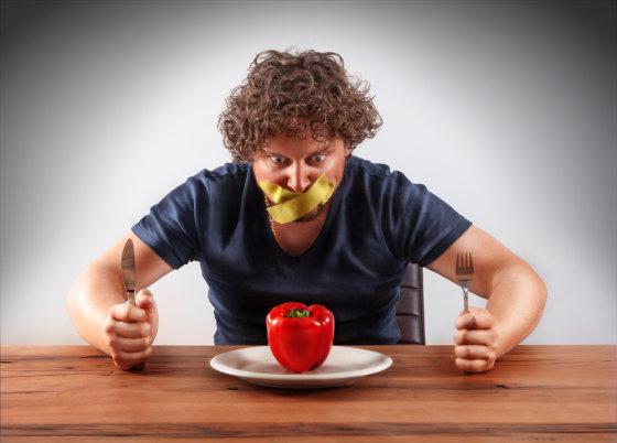 Shutterstock nuotr./Dietos besilaikantis vyras
