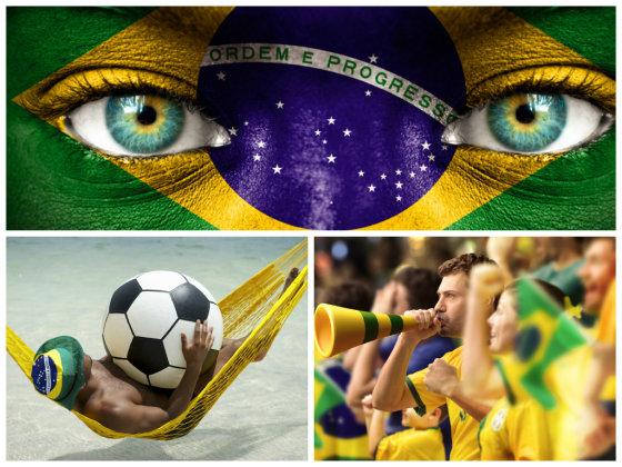 Fotolia nuotr./Brazilija pamišusi dėl futbolo