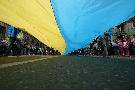 Alvydo Januševičiaus nuotr./Ukrainos vėliava