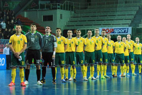 V.Knyzelio/LFF.lt nuotr./Salės futbolo rinktinė