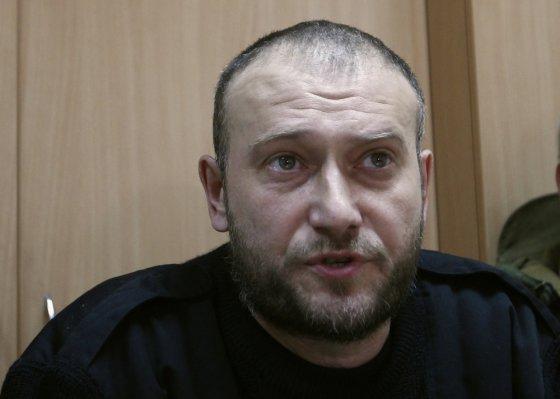 """""""Reuters""""/""""Scanpix"""" nuotr./Ukrainos ultradešiniųjų grupuotės lyderis Dmytro Jarošas"""