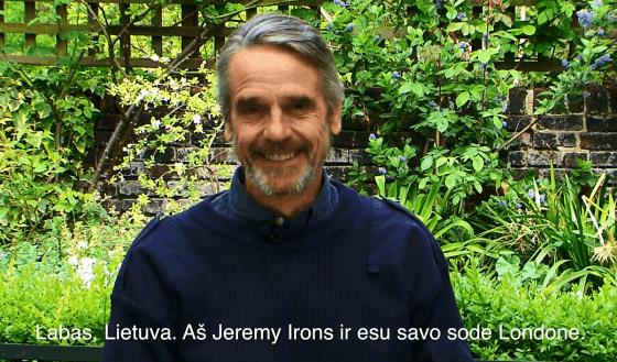 Jeremy Irons: Aš savo balsą atiduočiau Artūrui Zuokui