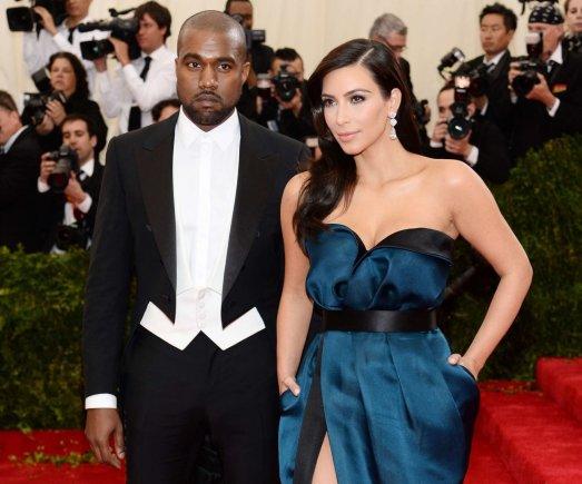 """AFP/""""Scanpix"""" nuotr./Kim Kardashian ir Kanye Westas"""