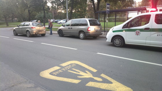 15min.lt nuotr. /Avarija Vilniuje
