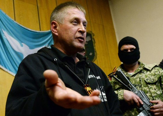 "AFP/""Scanpix"" nuotr./Slovjansko separatistų vadas Viačeslavas Ponomariovas"