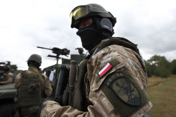 Scanpix/Sipa USA nuotr./Lenkijos specialiųjų pajėgų karys NATO pratybose