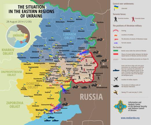 Situacija Rytų Ukrainoje (08 28)
