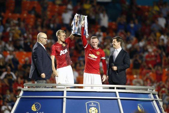"""""""Reuters""""/""""Scanpix"""" nuotr./Wayne'as Rooney ir Darrenas Fletcheris"""