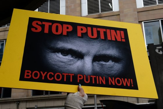 """AFP/""""Scanpix"""" nuotr./Protestas prieš Vladimirą Putiną"""
