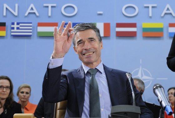 """AFP/""""Scanpix"""" nuotr./NATO generalinis sekretorius Andersas Foghas Rasmussenas"""