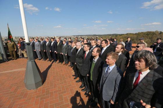 Juliaus Kalinsko/15min.lt nuotr./Vilniaus šaulių kuopos naujokų priesaikos ceremonija