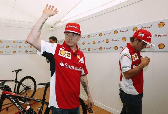 """Reuters""/""Scanpix"" nuotr./Kimi Raikkonenas ir Fernando Alonso"