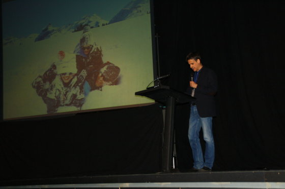 Gyčio Markausko nuotr./Pasaulio žurnalistų kalnų slidininkų klubo prezidentas Miguelis-Angel Aquiso