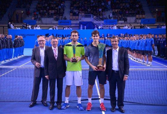 Internationaux de tennis de Vendee nuotr./Pierre'as-Hugues'o Herbertas ir Marselis Ilhanas