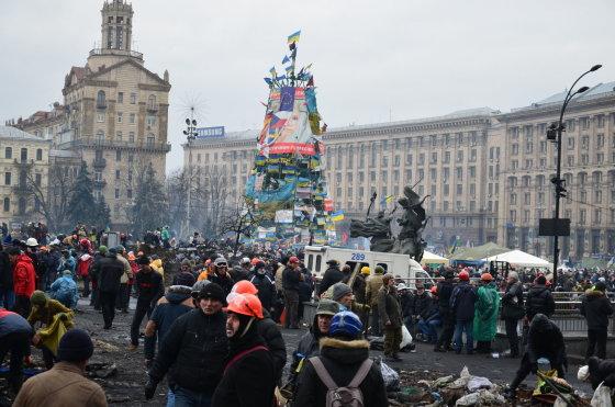 Pauliaus Važgausko nuotr./Lietuvio Pauliaus Važgausko kelionė į Maidaną 2014 m. vasario 25 d.