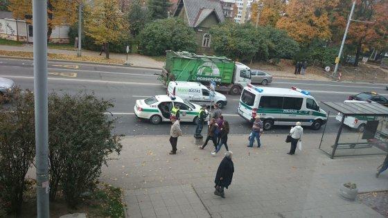 Skaitytojo Mindaugo K. nuotr./Nelaimė Vilniuje, Kalvarijų gatvėje