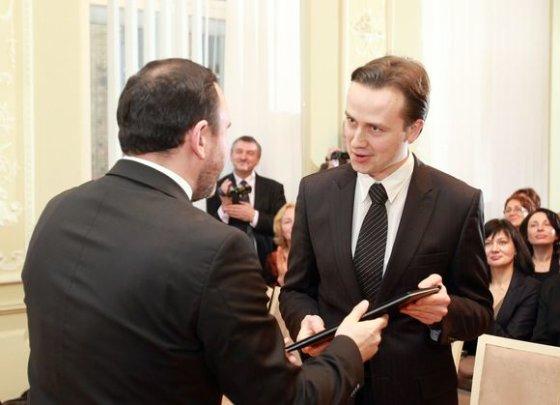 Irmanto Gelūno/15min.lt nuotr./Kultūros ministerijos premija apdovanotas Darius Mažintas