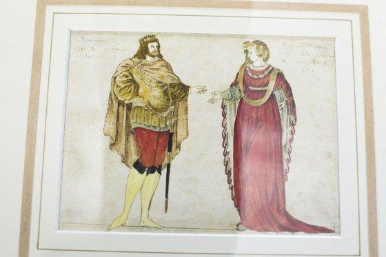 Irmanto Gelūno/15min.lt nuotr./Valdovų rūmai pristatė aukcione įsigytą seniausią Vytauto Didžiojo ir jo žmonos atvaizdą.