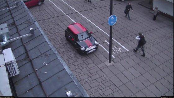Kadras iš filmuotos medžiagos/Užfiksuotas teisės pažeidimas