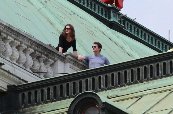 AOP nuotr./Tomas Cruise'as ir Rebecca Ferguson