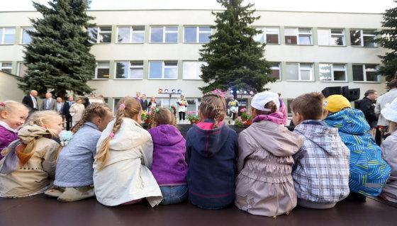 Juliaus Kalinsko/15min.lt nuotr./Mokslo metų pradžia Vilniaus Baltupių progimnazijoje