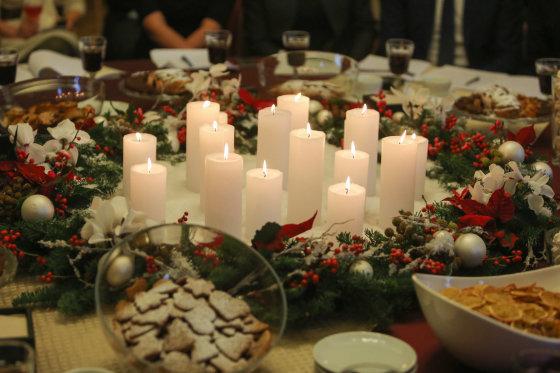 Juliaus Kalinsko/15min.lt nuotr./Kalėdinis stalas