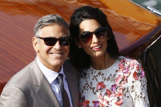 "AFP/""Scanpix"" nuotr./George'as Clooney ir Amal Alamuddin"