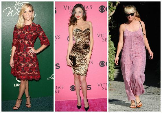 "AOP ir ""Scanpix"" nuotr./Reese Witherspoon, Miranda Kerr ir Kaley Cuoco"