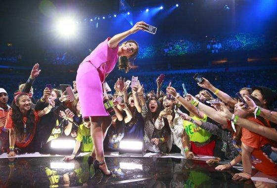 "AFP/""Scanpix"" nuotr./Selena Gomez ""We Day"" renginyje Vankuveryje"