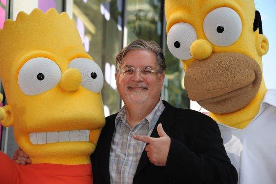 """AFP/""""Scanpix"""" nuotr./""""Simpsonų"""" kūrėjas Mattas Groening"""