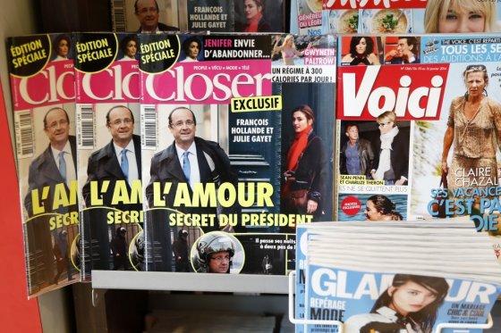 """""""Reuters""""/""""Scanpix"""" nuotr./Žurnalas """"Closer"""" paskelbė apie Francois Hollande'o romaną su Julie Gayet"""