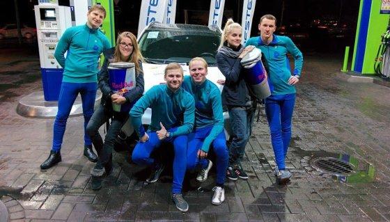 Kelionei aplink Baltijos šalis pasiruošusi komanda